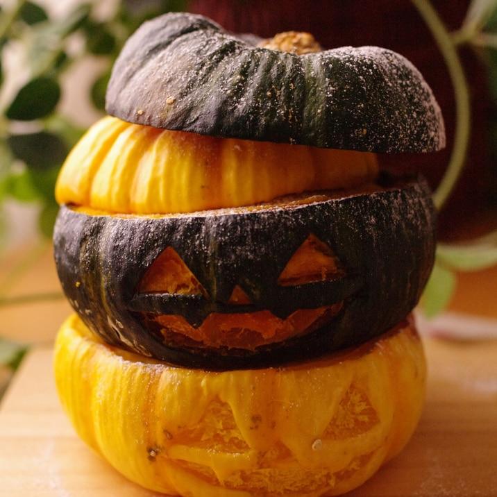 簡単まるごとかぼちゃのタワークリームチーズケーキ