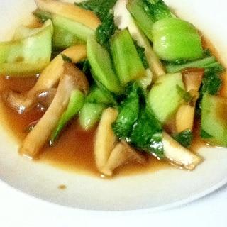 青梗菜とエリンギのバター醤油炒め