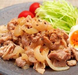 豚こま切れ肉の七味マヨネーズ焼き