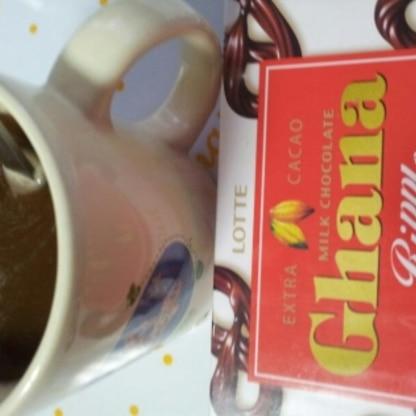 大好きなガーナチョコをたっぷり入れて^^とてもおいしかったです^^ごちそうさまでした^^
