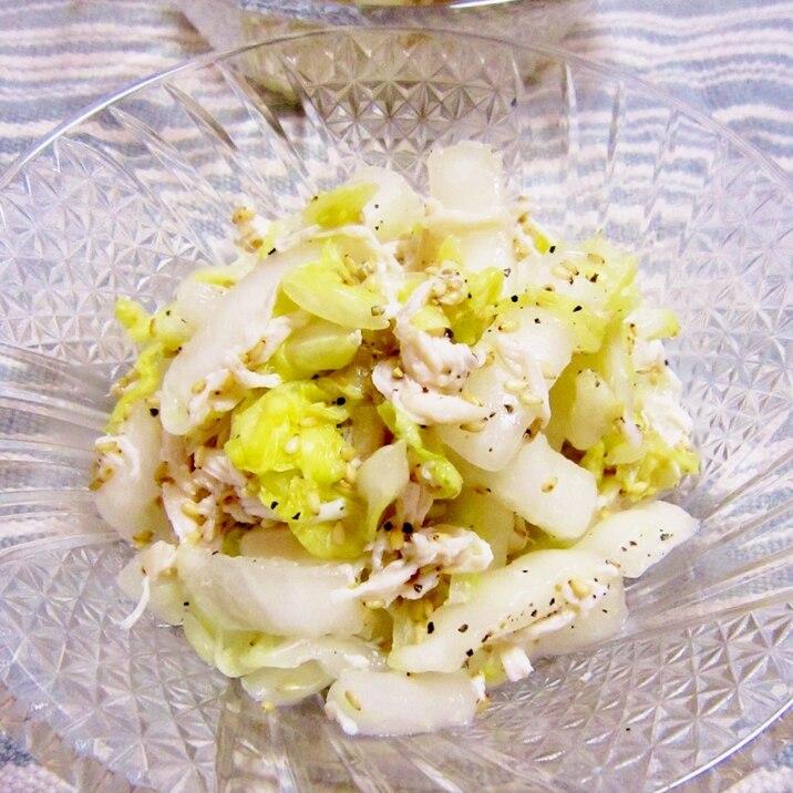 白菜とささみの中華風サラダ【作り置きにも】
