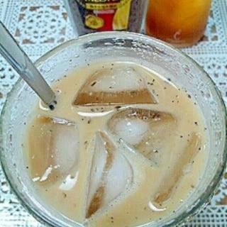 アイス☆黒ごまジンジャーカフェオレ♪