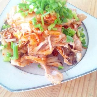 超簡単☆豚キムチと舞茸炒め