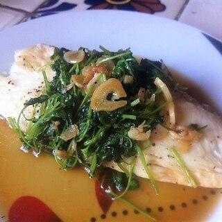 パクチー香る☆白身魚のソテー