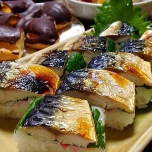 焼きさば寿司です☆こんがり焼いて美味しく食べ易く♪