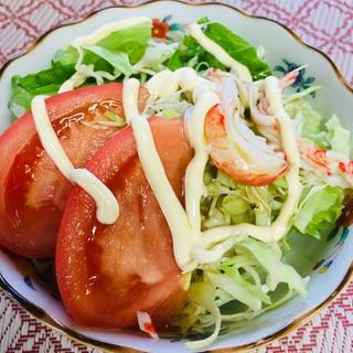 たっぷりトマトの野菜サラダ