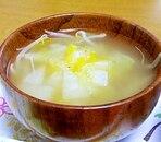 白菜ともやしの中華スープ