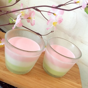 ひなまつり♡3色ミルクゼリー☆