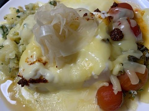 ポテサラ、豆腐、色々チーズ焼き