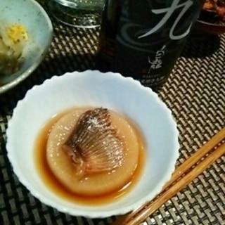 日本酒が進む、圧力鍋で河豚ひれ大根