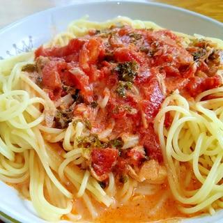 ツナとパセリのトマトクリームパスタ☆