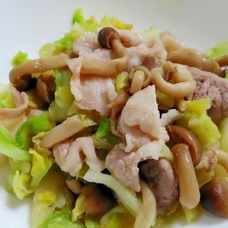 ウェイパーで☆豚バラとキャベツの中華煮