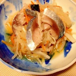 簡単☆きずし(しめ鯖)と大根の酢の物