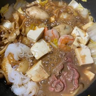 牡蠣入りすき焼き