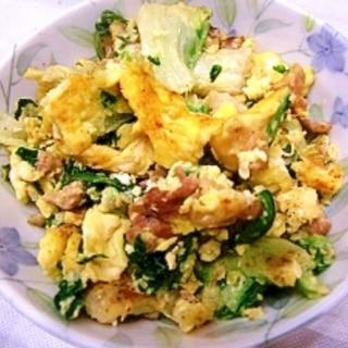 白菜と豚の卵炒め