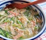豆苗とえのきの春雨スープ