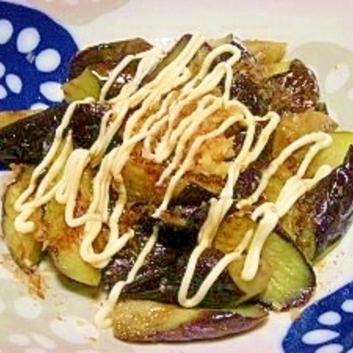 茄子に生姜マヨ醤油