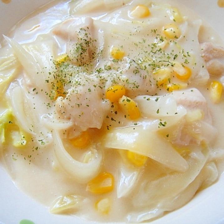 白菜 と 鶏肉 の クリーム 煮