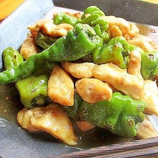 鶏むね肉と甘長とうがらしのすっぱ炒め
