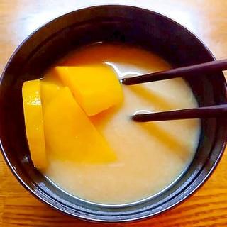 薩摩芋たっぷりの味噌汁