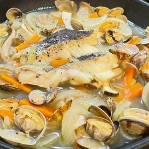 フライパン一つで超簡単!☆鱈の絶品アクアパッツァ☆