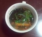 ほうれん草とわかめのスープ