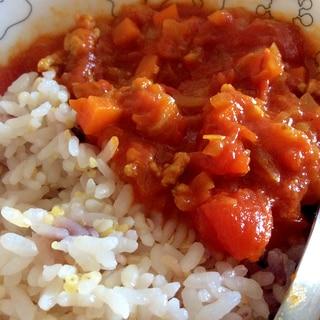 スパイスから作る★トマトとひき肉のカレー