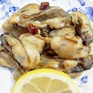 牡蠣のガーリックオリーブオイル炒め