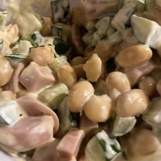 作り置きに!大豆のマヨネーズサラダ