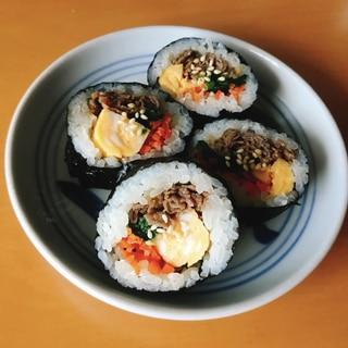 手巻き寿司用の海苔で作る!ごま油香る牛肉のり巻き