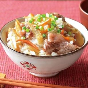牛肉ときんぴらの混ぜご飯