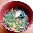 5分!+モロヘイヤ&豆腐❤なめこ汁♪