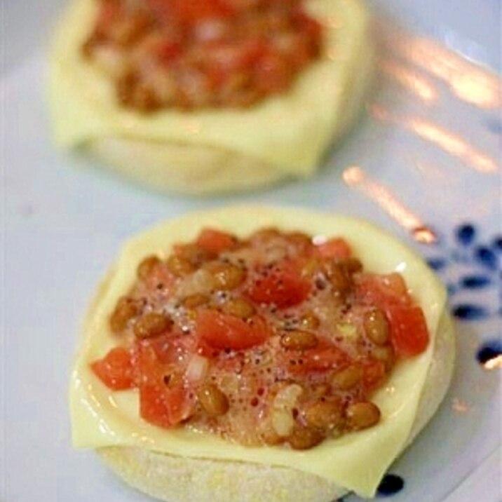 塩麹トマト納豆のチーズマフィン