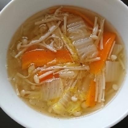 野菜の優しい甘さでほっこりしました。レシピありがとうごさいました。