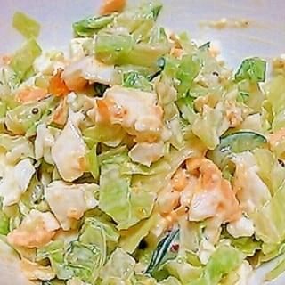 キャベツときゅうりと卵のサラダ