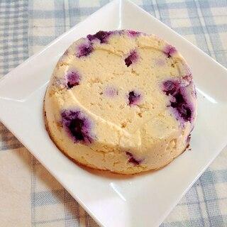 おからのブルーベリーチーズケーキ(^○^)