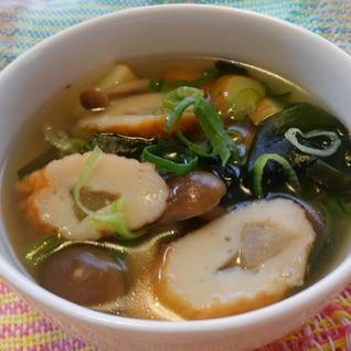 簡単!ごぼう天とわかめのスープ(^o^)