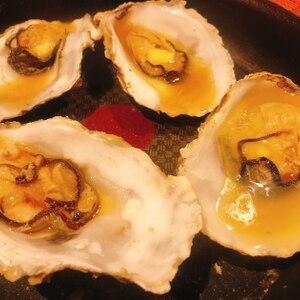フライパンで殻付き 牡蠣