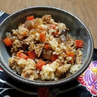 【沖縄】ソーキ煮でクファジューシー(炊き込みご飯)