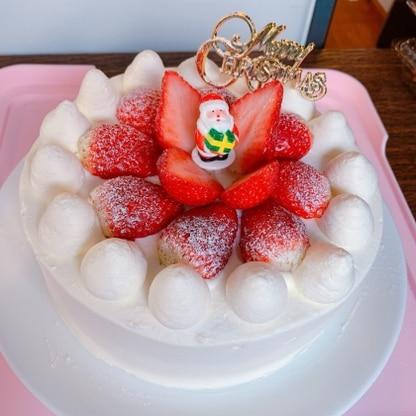 クリスマスケーキにしました! またリピします❤️