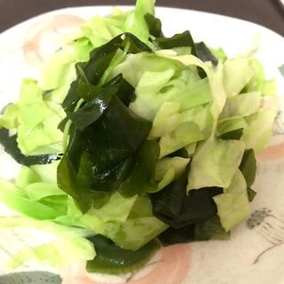 キャベツとワカメのサラダ ナムル風