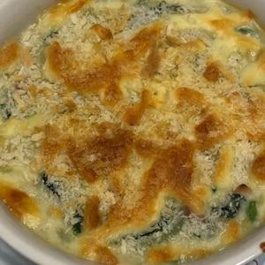 菜の花の豆乳グラタン