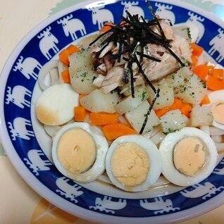 鯖と根菜のサラダうどん
