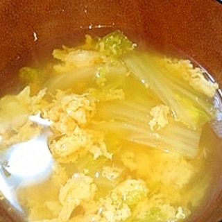 白菜と卵のお吸い物