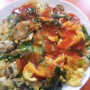 台湾小吃♪牡蠣オムレツ「蚵仔煎」