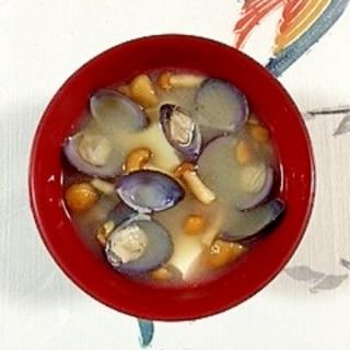 しじみとなめこのお味噌汁