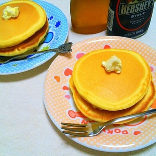 牛乳きらしちゃったっ!お水と卵のパンケーキ♡