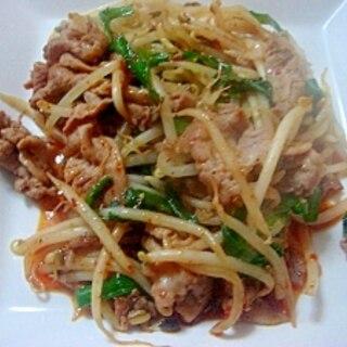キムチ味の肉野菜炒め