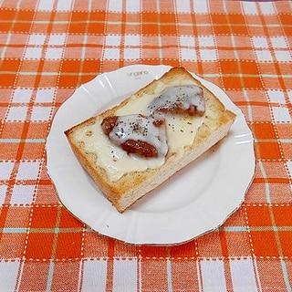ハンバーグチーズトースト