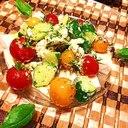 トマトのカプレーゼ風ふたりのハートも彩るサラダ